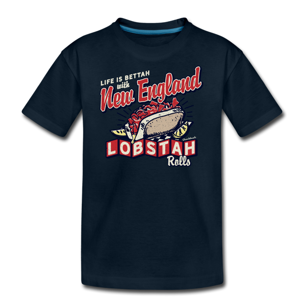 New England Lobstah Rolls T-Shirt - deep navy