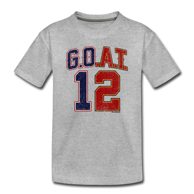 GOAT Split Personality Toddler T-Shirt - heather gray