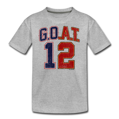 GOAT Split Personality Youth T-Shirt - heather gray
