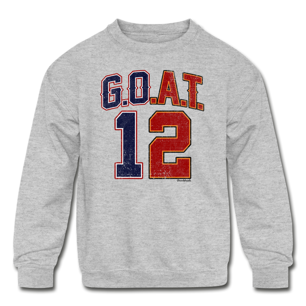 GOAT Split Personality Youth Sweatshirt - heather gray