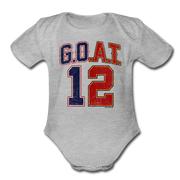 GOAT Split Personality Infant One Piece - heather gray