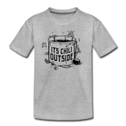 It's Chili Outside Toddler T-Shirt - heather gray