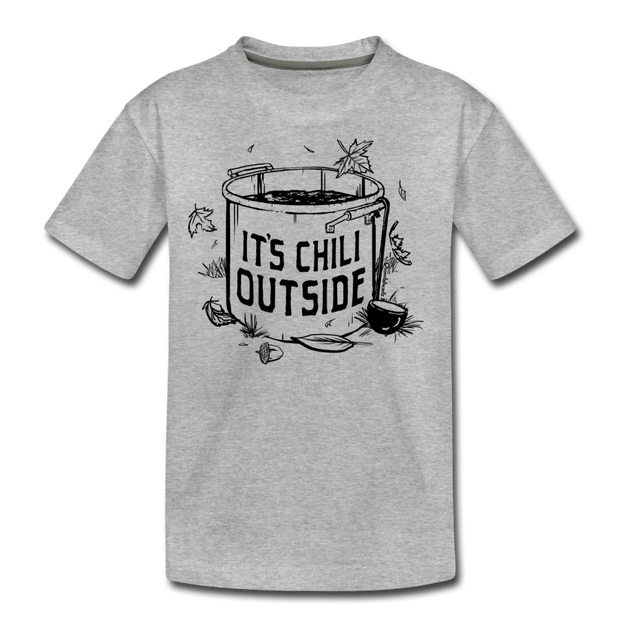 It's Chili Outside Kids' T-Shirt - heather gray