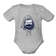 Belichick Smiley Mask Infant One Piece - heather gray
