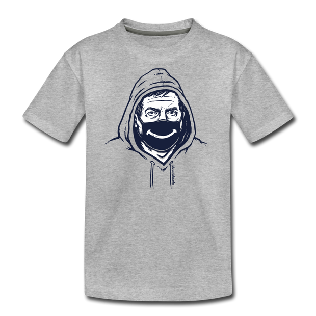 Belichick Smiley Mask Youth T-Shirt - heather gray