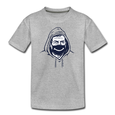 Belichick Smiley Mask Toddler T-Shirt - heather gray