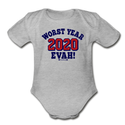 Worst Year Evah! Infant One Piece - heather gray