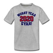 Worst Year Evah! Youth T-Shirt - heather gray