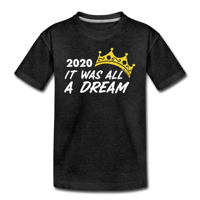 2020 It Was All A Dream Youth T-Shirt - charcoal gray