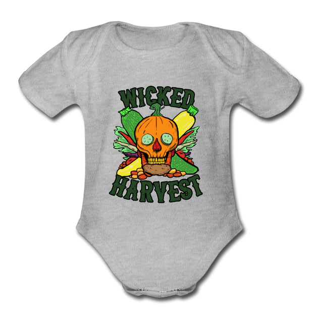 Wicked Harvest Infant One Piece - heather gray