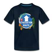 Evacuation Route Toddler T-Shirt - deep navy