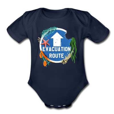 Evacuation Route Infant One Piece - dark navy