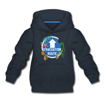 Evacuation Route Youth Sweatshirt - navy