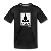 Salem MA Witch Hat Sign Toddler T-Shirt - charcoal gray