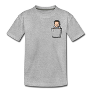 Pocket Belichick Youth T-Shirt - heather gray