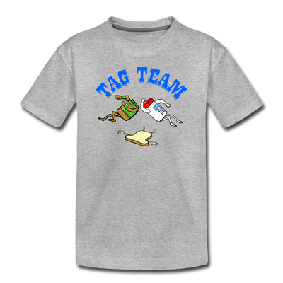 Tag Team Toddler T-Shirt - heather gray