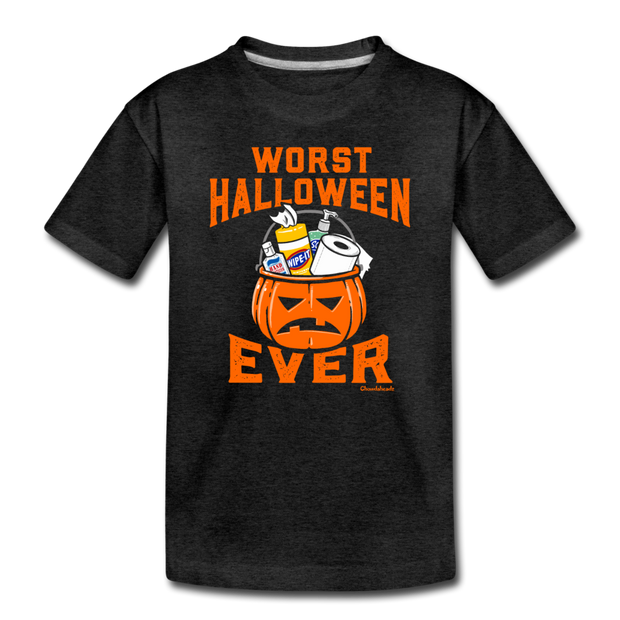 Worst Halloween Ever Toddler T-shirt - charcoal gray