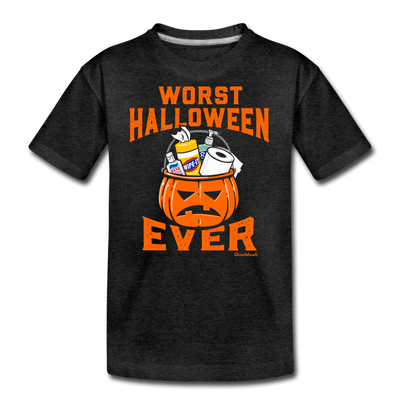Worst Halloween Ever Youth T-Shirt - charcoal gray