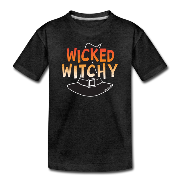 Wicked Witchy Toddler T-Shirt - charcoal gray