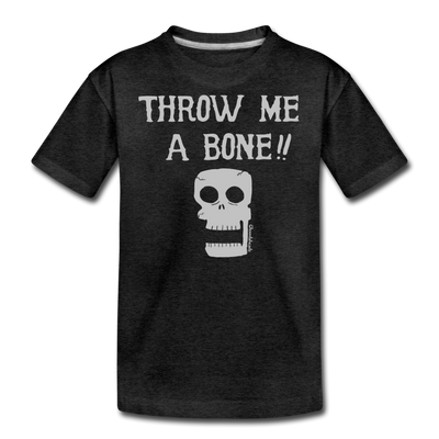 Throw Me A Bone Youth Sweatshirt - charcoal gray