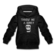 Throw Me A Bone Infant One Piece - charcoal gray