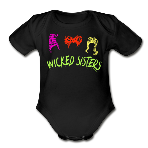 Wicked Sisters Infant One Piece - black