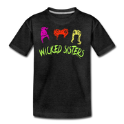 Wicked Sisters Youth T-Shirt - charcoal gray