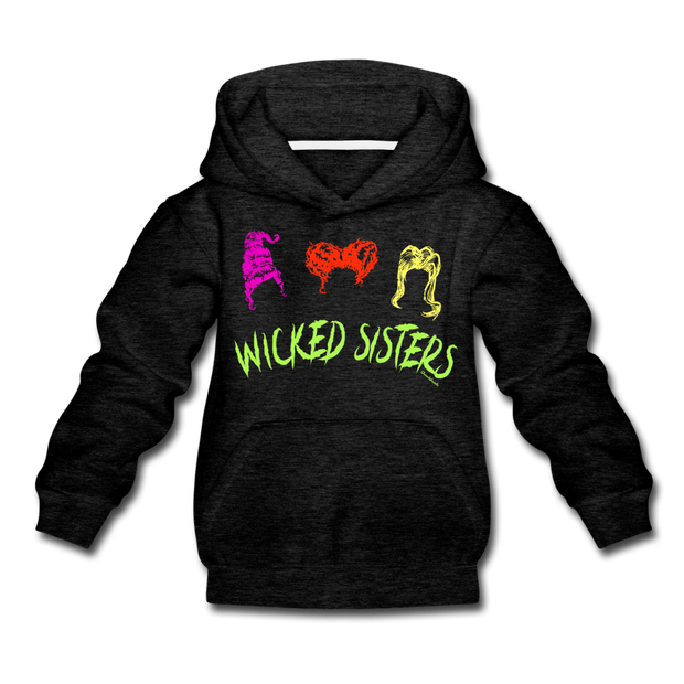 Wicked Sisters Youth Sweatshirt - charcoal gray