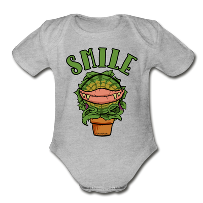 Smile Infant One Piece - heather gray