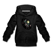 Three Terriers and Moon Youth Sweatshirt - charcoal gray