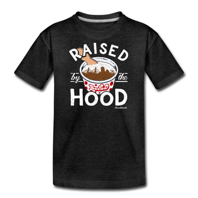 Raised By The Hood Youth T-Shirt - charcoal gray