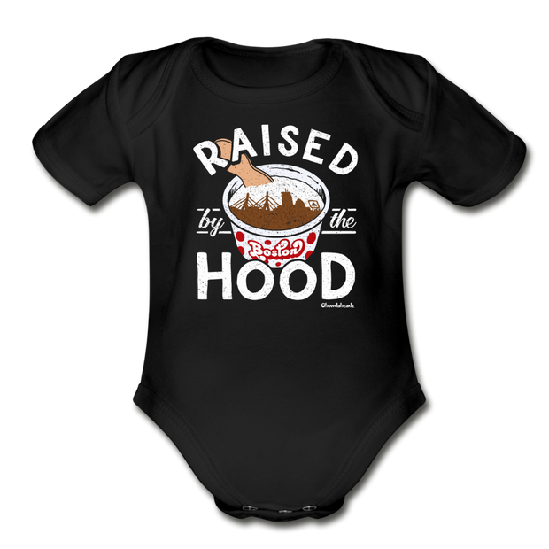 Raised By The Hood Infant One Piece - black