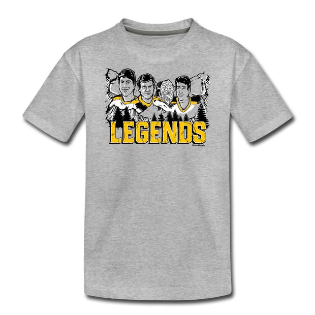 Boston Hockey Legends Youth T-Shirt - heather gray