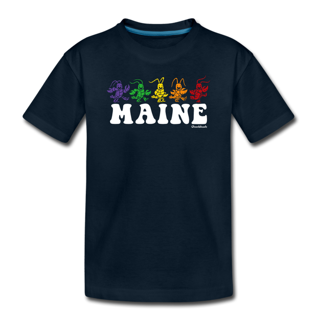 Maine Dancing Lobstahs Toddler T-Shirt - deep navy