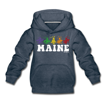 Maine Dancing Lobstahs Youth Sweatshirt - heather denim