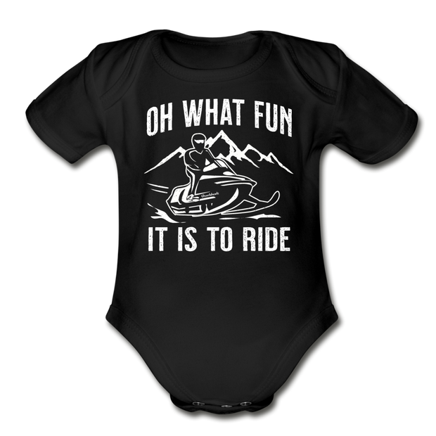 Oh What Fun It Is To Ride Infant One Piece - black