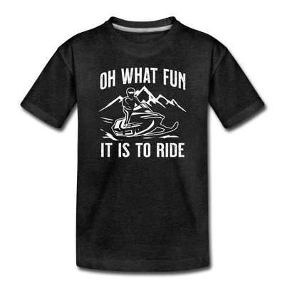 Oh What Fun It Is To Ride Toddler T-Shirt - charcoal gray