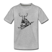 Moose Tracks Toddler T-Shirt - heather gray
