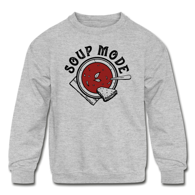 Soup Mode Youth Sweatshirt - heather gray