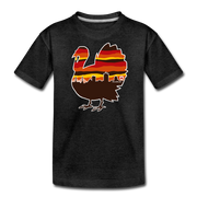 Boston Thanksgiving Turkey Skyline Youth T-Shirt - charcoal gray