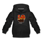 Boston Thanksgiving Turkey Skyline Youth Sweatshirt - black