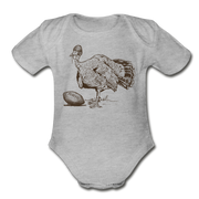 Turkey Football Infant One Piece - heather gray