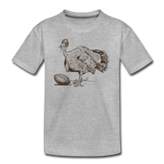 Turkey Football Toddler T-Shirt - heather gray