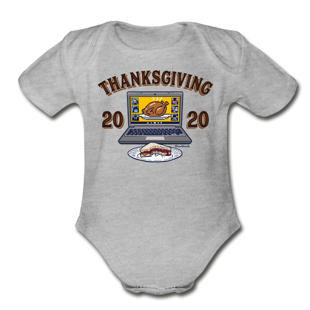 Thanksgiving 2020 Infant One Piece - heather gray