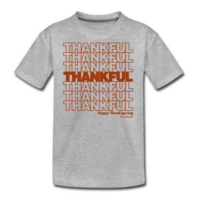 Thankful Repeat Thanksgiving T-Shirt - heather gray