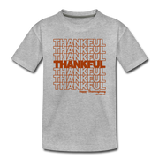 Thankful Repeat Thanksgiving Toddler T-Shirt - heather gray