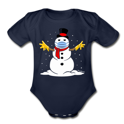 Masky the Snowman Infant One Piece - dark navy