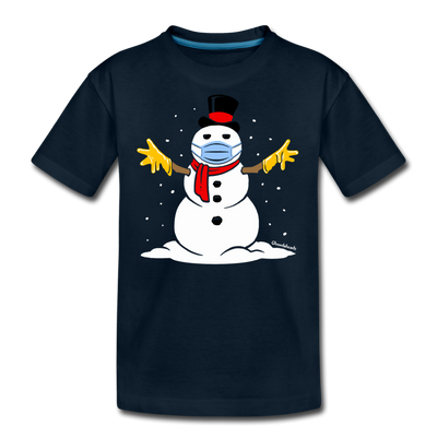 Masky the Snowman Youth T-Shirt - deep navy