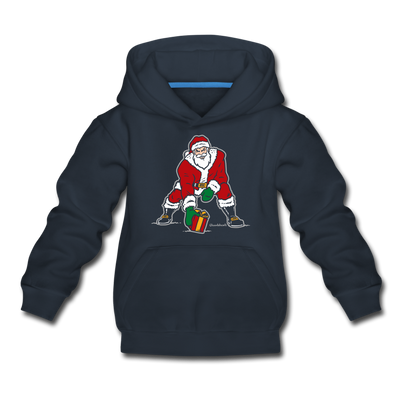 Three Point Stance Santa Youth Sweatshirt - navy