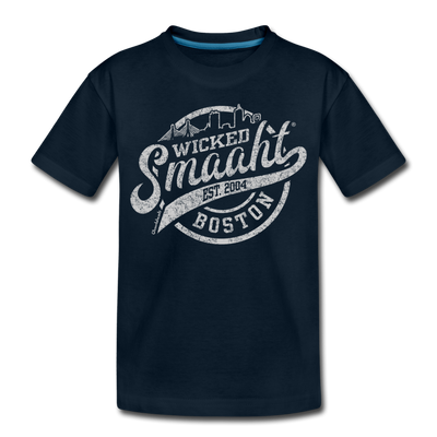 Wicked Smaaht Boston Skyline Toddler T-Shirt - deep navy